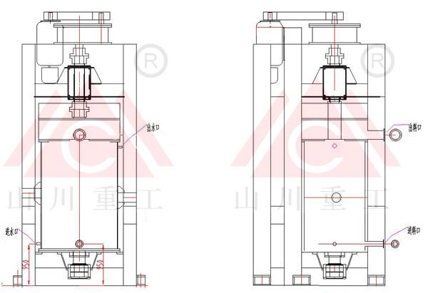 立式搅拌球磨机整体结构图片